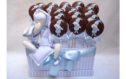 lembrancinhas de nascimento comestiveis 410x257 Modelos de Lembrancinhas para nascimento do bebê