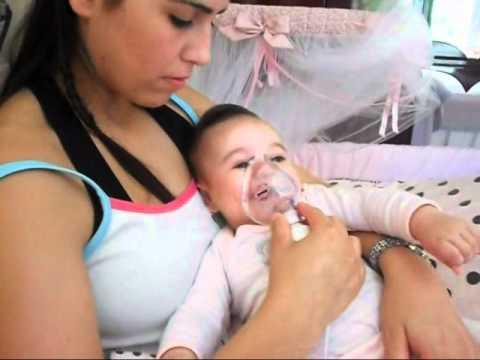 Como fazer nebulização em recém nascido com gripe