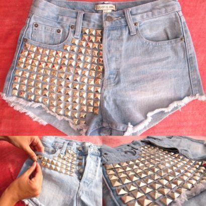shorts customizados com tachinhas