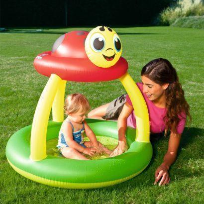 piscina de bebe redonda com bichinho no topo 410x410 Piscina redonda para bebê opções para diversão