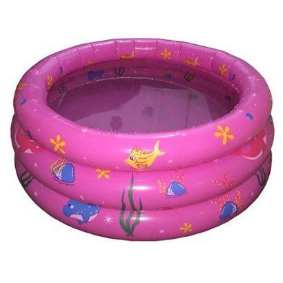 piscina redonda para bebê rosa com desenhos