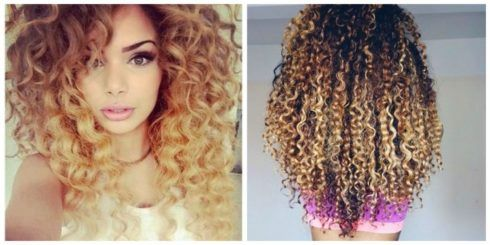 cabelos crespos com luzes 4 490x245 Cabelos crespos com luzes belos cortes e penteados