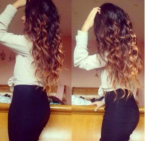 cabelos crespos com luzes 7 490x479 Cabelos crespos com luzes belos cortes e penteados