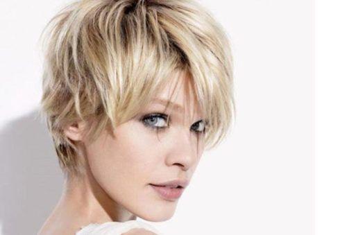cabelos repicados curtos loira 490x339 Cortes de CABELOS REPICADOS curtos na moda