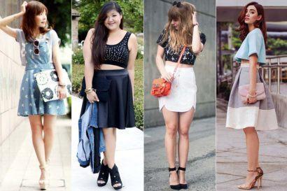 como usar top cropped com saias 410x273 Como usar top cropped com saia, calça e shorts (30 looks da moda)