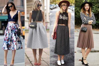como usar top cropped e saias longas 410x273 Como usar top cropped com saia, calça e shorts (30 looks da moda)