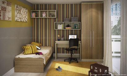 decoracao nichos para quarto solteiro 410x246 NICHOS PARA QUARTO DE SOLTEIRO para decoração : Ela e ele