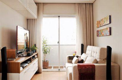 fotos de apartamentos pequenos decorados 410x267 Apartamentos pequenos decorados, A sala, A cozinha e Quarto