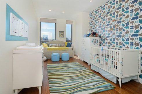 imagem 16 490x326 PAPÉIS DE PAREDE para quarto de bebê menino e menina