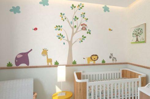 imagem 21 490x323 PAPÉIS DE PAREDE para quarto de bebê menino e menina