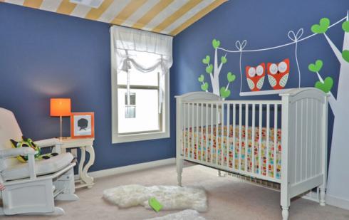 imagem 29 490x309 PAPÉIS DE PAREDE para quarto de bebê menino e menina
