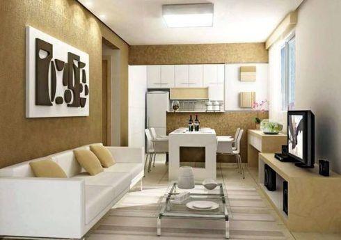 Apartamentos pequenos decorados a sala a cozinha e for Decoracion de apartamentos modernos pequenos