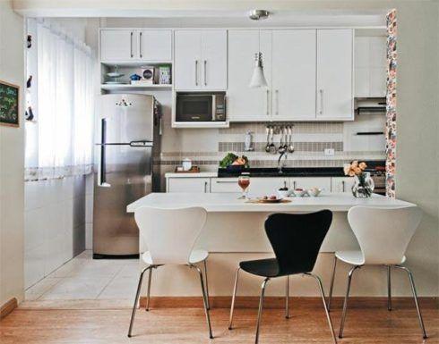 imagem 4 1 490x385 Apartamentos pequenos decorados, A sala, A cozinha e Quarto