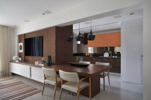 imagem 5 1 490x326 Apartamentos pequenos decorados, A sala, A cozinha e Quarto