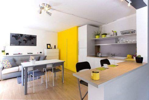 imagem 6 1 490x327 Apartamentos pequenos decorados, A sala, A cozinha e Quarto
