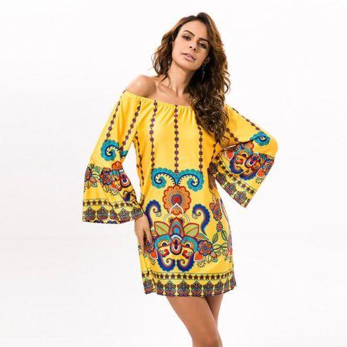 48cb0aae01 Imagem 22 – Outro modelo de vestido indiano mais básico para o dia a dia de  mulheres estilosas e modernas