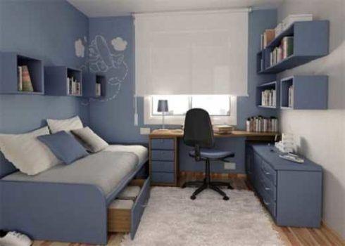 imagem 8 490x350 Apartamentos pequenos decorados, A sala, A cozinha e Quarto