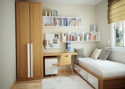 moveis planejados nichos de quarto 410x293 NICHOS PARA QUARTO DE SOLTEIRO para decoração : Ela e ele