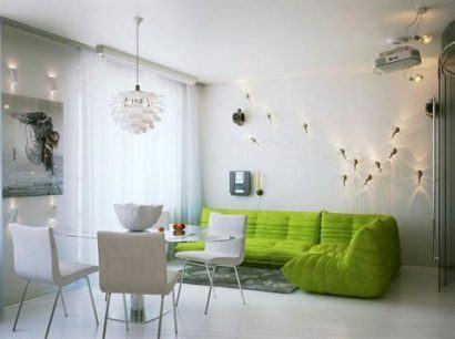 moveis planejados para apartamentos e luzes 410x306 Apartamentos pequenos decorados, A sala, A cozinha e Quarto