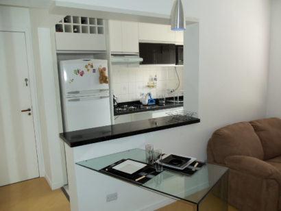 moveis planejados para apartamentos pequenos 410x308 Apartamentos pequenos decorados, A sala, A cozinha e Quarto