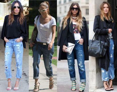 na moda com calca boyfriend 410x324 Como usar CALÇA BOYFRIEND DESTROYED feminina da moda