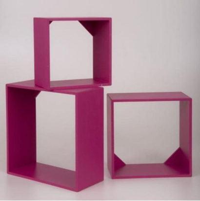 nicho cor pink para quarto 410x413 NICHOS PARA QUARTO DE SOLTEIRO para decoração : Ela e ele