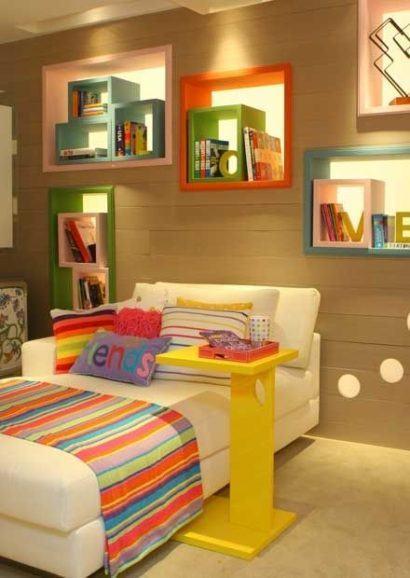 nichos para quarto de crianca 410x578 NICHOS PARA QUARTO DE SOLTEIRO para decoração : Ela e ele