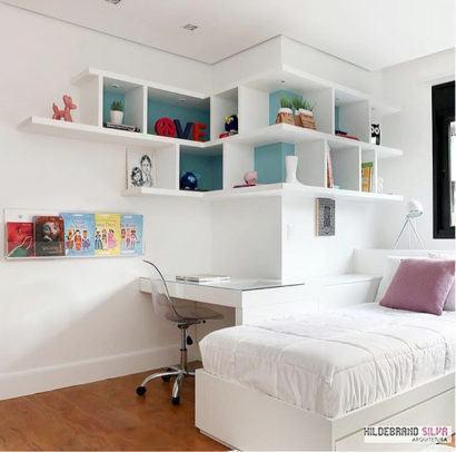 nichos para quarto de solteiro decorativos 410x406 NICHOS PARA QUARTO DE SOLTEIRO para decoração : Ela e ele
