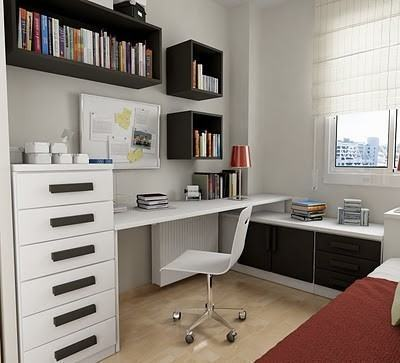 nichos para quarto de solteiro para decora o ela e ele On escritorios pequenos