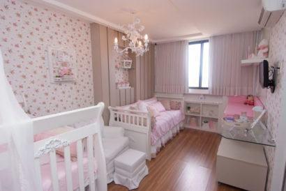 papeis de parede para quarto de bebe feminino delicados 410x274 PAPÉIS DE PAREDE para quarto de bebê menino e menina