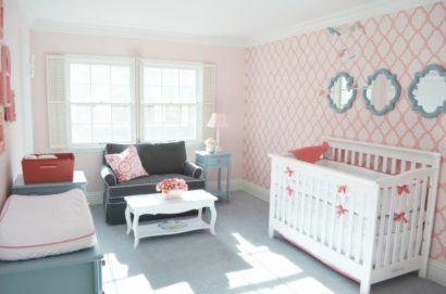 papeis de parede para quarto de bebe feminino estilo provencal 410x271 PAPÉIS DE PAREDE para quarto de bebê menino e menina
