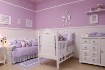 papeis de parede para quarto de bebe feminino purpura 410x273 PAPÉIS DE PAREDE para quarto de bebê menino e menina