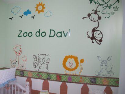 papeis de parede para quarto de bebe masculino bichinhos 410x308 PAPÉIS DE PAREDE para quarto de bebê menino e menina