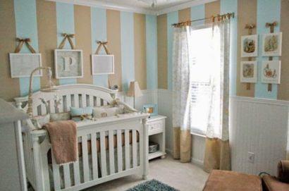 papeis de parede para quarto de bebe masculino com quadros na parede 410x271 PAPÉIS DE PAREDE para quarto de bebê menino e menina