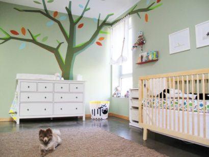 papeis de parede para quarto de bebe masculino de arvore 410x308 PAPÉIS DE PAREDE para quarto de bebê menino e menina