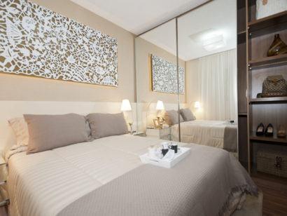 quartos para apartamentos pequenos 410x308 Apartamentos pequenos decorados, A sala, A cozinha e Quarto