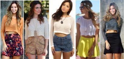 top cropped moda jovem 410x195 Como usar top cropped com saia, calça e shorts (30 looks da moda)