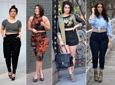 top cropped para gordinhas 1 Como usar top cropped com saia, calça e shorts (30 looks da moda)