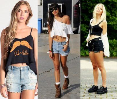 top cropped shorts curto