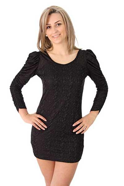 vestido tubinho com manga longa curtinho