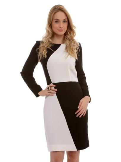 vestido tubinho com manga longa socialzinho 410x547 Modelitos de VESTIDOS TUBINHO COM MANGA super elegantes