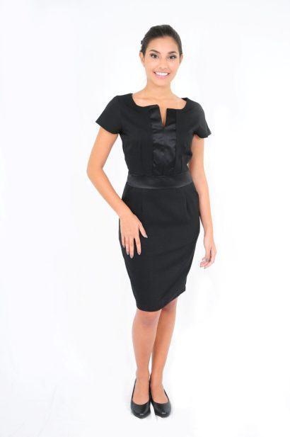 vestidos tubinho com manga na cor preta 410x617 Modelitos de VESTIDOS TUBINHO COM MANGA super elegantes