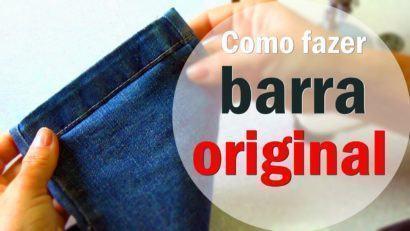 como fazer barra de cal%C3%A7a jeans original 410x231 Como fazer barra de calça jeans original