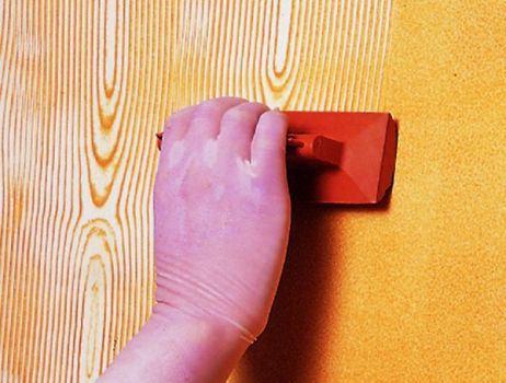 como pintar uma parede com efeito de madeira