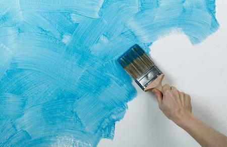 como pintar uma parede com pincel pequeno