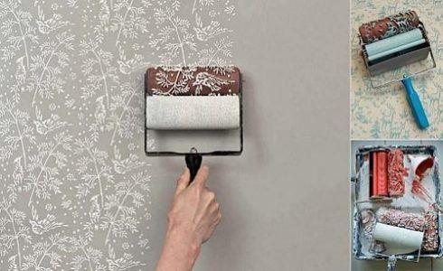 como pintar uma parede com rolo decorativo