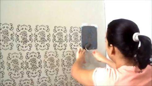como pintar uma parede com stêncil
