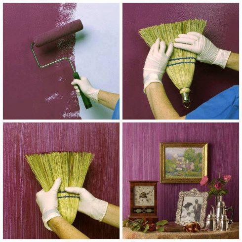 como pintar uma parede de um jeito criativo com efeito escova