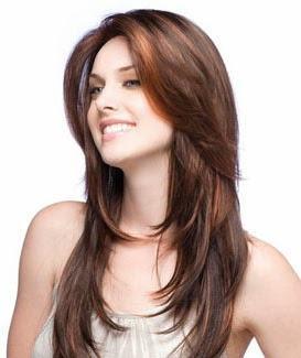 cortes de cabelo degrade com franja longa
