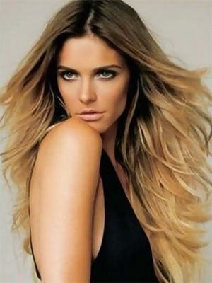 cortes de cabelo degrade com mechas californianas